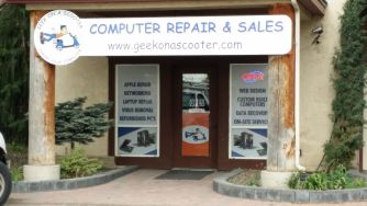geek on a scooter store front, Boise meridian idaho, computer repair sales